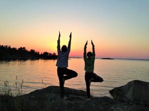 yoga i solen